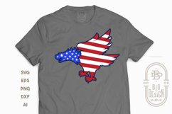 Bald Eagle Silhouette and USA Flag - 4th of July SVG File Product Image 4