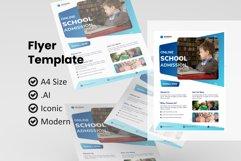 School online class flyer template Product Image 1