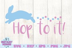 Hop to it svg, easter svg, bunny svg Product Image 3
