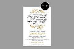 Renew Vows Invitation Template, Anniversary Invite Product Image 6