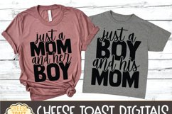 Mommy and Me SVG - Just A Mom And Her Boy Product Image 3