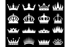 Crowns white silhouette set Product Image 1