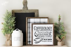 Coffeeology Kitchen or Coffee House Sign SVG DXF Cut File Product Image 1