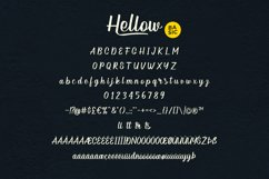 Hellow - Calligraphy Typeface Product Image 5