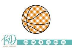 Basketball Mom - Buffalo Plaid Basketball SVG Product Image 3