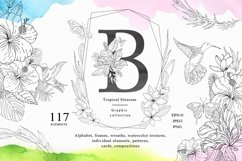 Tropical blossom graphic collection Product Image 1