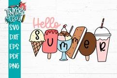 Hello Summer Ice Cream SVG Product Image 1