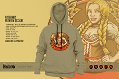Beautiful Beer Girl Mascot Badge SVG Illustrations Product Image 6