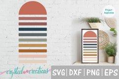Half Sun Boho SVG, DXF, PNG, EPS Product Image 1