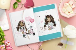 Cute Teen Girls 3, Digital Clipart, Fashion Girls, Valentine Product Image 6