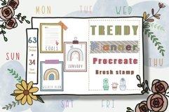 Procreate Brush Stamp Trendy Planner-Planner Procreate Brush Product Image 1