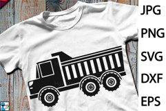 Dump Truck Design - Clip art / Cutting Files 1303c Product Image 1