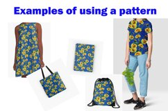 Seamless flowers pattern with dandelion leaves and flowers. Product Image 2