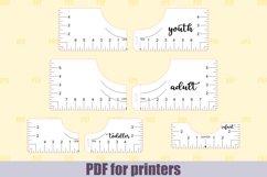 T-Shirt Alignment Tool SVG Glowforge files, Printable PDF Product Image 1