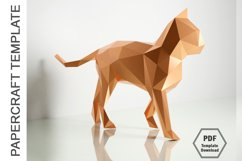 PDF TEMPLATE OF CAT PAPERCRAFT / 3D PAPERCRAFT LOWPOLY Product Image 2