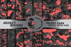 Camo digital papers, Scrapbook papers, Instant download Product Image 1