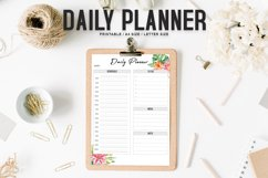 Floral Daily Planner Printable Product Image 1