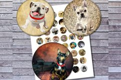 Vintage Dogs, Dogs Images, Digital Collage Sheet, Printables Product Image 2