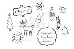 Christmas Doodles Clip Art Product Image 2