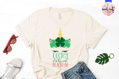 Lucky pretty and magical - St. Patrick's Day SVG EPS DXF PNG Product Image 2
