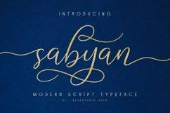 Sabyan // Modern Script Typeface Product Image 1