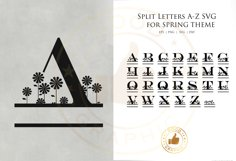 Split Letters A-Z SVG for spring theme Product Image 1