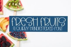 Web Font Fresh Fruits - A Quirky Hand-Lettered Font Product Image 1