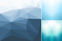 Blue abstract geometric backgrounds. Product Image 6