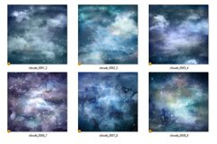 Cloudy Nights Watercolor Sky Backgrounds Product Image 2