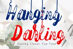 Hanging Darling Decorative Holiday Font Product Image 1