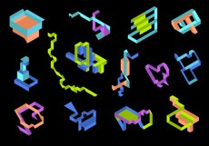 Playful Geometry. 42 vector isometric shapes Product Image 3