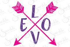 Love Arrow Cut File    SVG, EPS, DXF, PNG Product Image 1