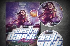 ELECTRO PARTY DANCE FLYER|Summer Festival Flyer Product Image 2