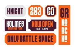 GR Norch - Sports Display Font Product Image 5