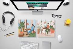 Modern Café Interiors vector illustration Product Image 6