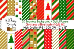 20 seamless Digital Papers - Christmas with Gold - HC007 Product Image 1