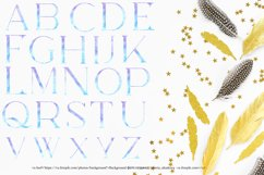 Blue watercolor alphabet clipart,Watercolor letters Product Image 2