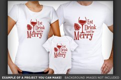 Eat Drink and Be Merry SVG - Eat Drink and Be Merry Sign 35 Product Image 2
