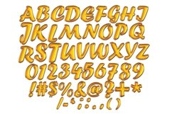 Balloon Alphabets Clipart, Balloon Foil Letters Product Image 4
