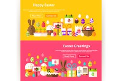 Happy Easter Website Banners Product Image 2