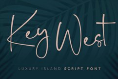 Key West Script Font with Extra Product Image 1