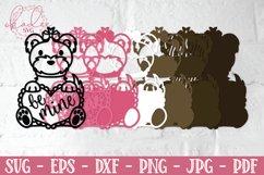 3D Valentine Puppies, Papercut Valentines, 3D Dog SVG Bundle Product Image 3