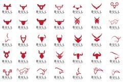 set of Premium bull logo design Product Image 1