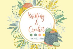 Watercolor Knitting and Crochet Clipart Product Image 1