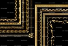 Gold Decorative Frames Clipart - Set of 20 Product Image 5