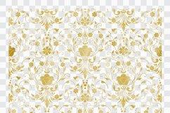 42 Gold Foil Seamless Damask Ornament Transparent Overlays Product Image 2