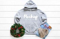 Gildan 18500 Mockup Christmas Sport Grey Hoodie Mockup Product Image 1