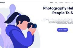photography landing page flat design Product Image 3