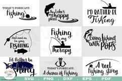 Fishing quotes bundle svg, fish shirt decal SVG,EPS,PNG,DXF Product Image 1