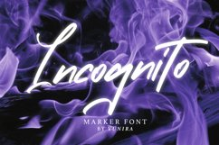 Incognito   Marker Font Product Image 1